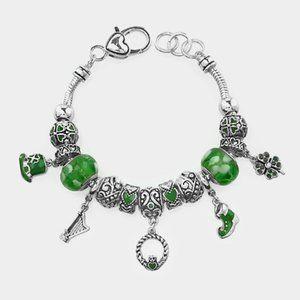 St Patricks Day Claddagh charm bracelet